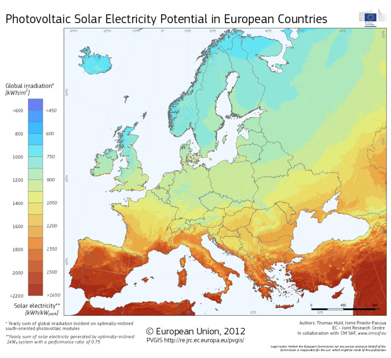 Zasoby energii słonecznej w Polsce i Europie